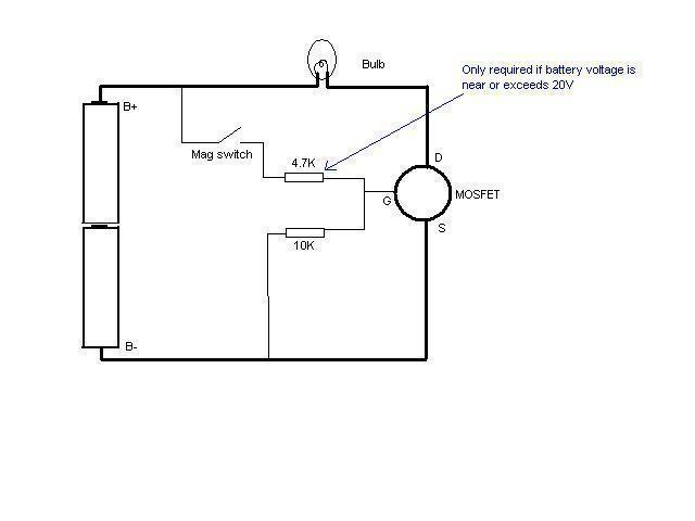 Basic mosfet switch question - schematic