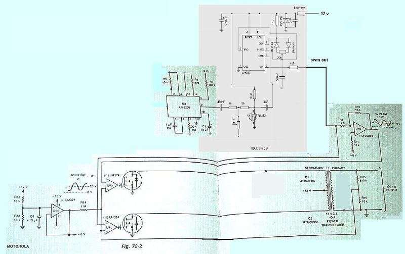 About a PWM power inverter - schematic