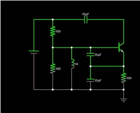 Common Collector Colpitts Oscillator - schematic