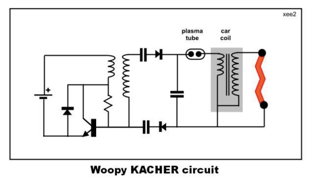 Tesla transformer on the Brovin Kacher from 220 volts 27