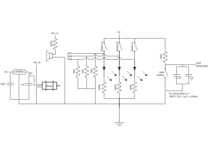 Arduino-Powered Jack-in-the-Box Toy - schematic
