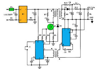 5v 10a output switching power supply - schematic