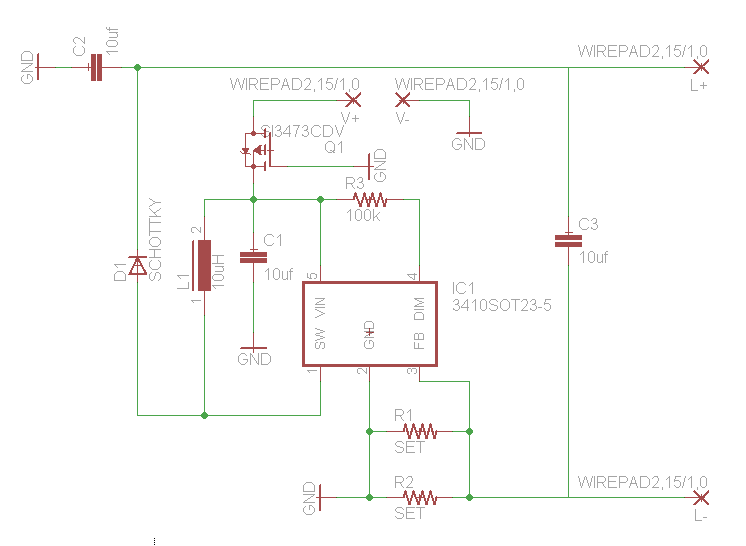 free diy open source boost driver - schematic
