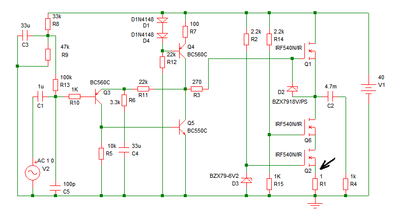 Pavels MOSFET Follower - schematic