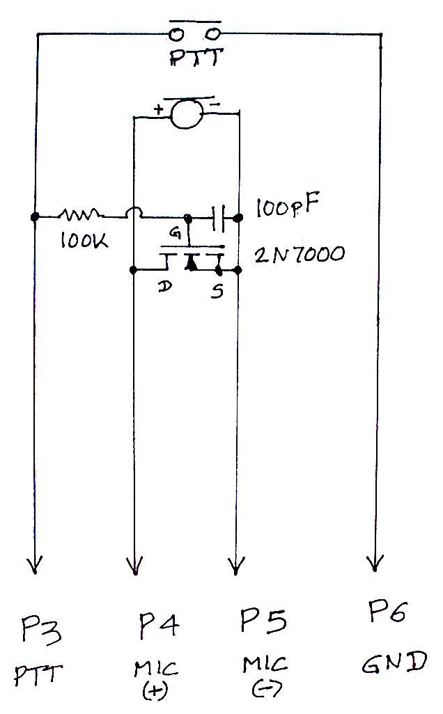 Microphone Mute circuit - schematic
