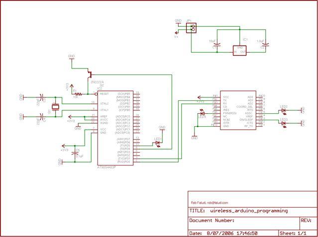 Programming Arduino Wirelessly - schematic