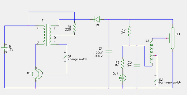 geiger power supply circuit