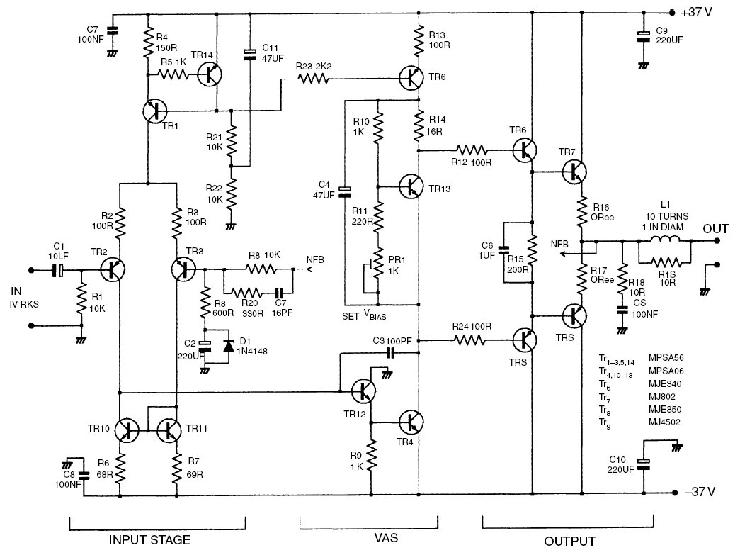 Audio Amplifier Circuit Page 16 Circuits Nextgr Af34 50w With Tda1514a