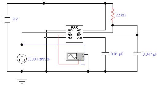 Phase shift oscillator circuit - schematic