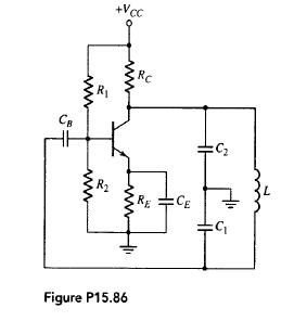 colpitts oscillator - schematic