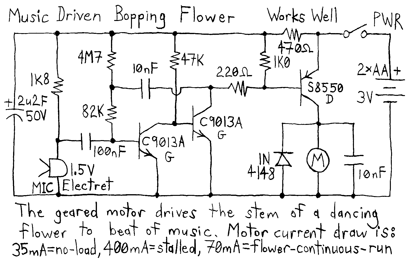 This Circuit Can Be Used For Voice Doorbell And Voiceactivated Toys