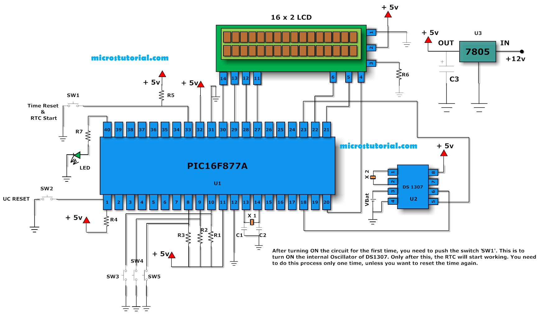 Digital Clock Ds1307 Circuit Project Using Pic 8051 Microcontroller With Rtc Page 3 Meter Counter Circuits Next Gr
