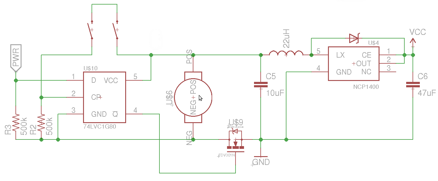 mosfet Turning a microcontroller on with a flip flop - schematic