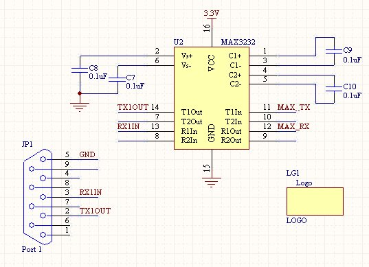GPS RS232 Dev Board - schematic