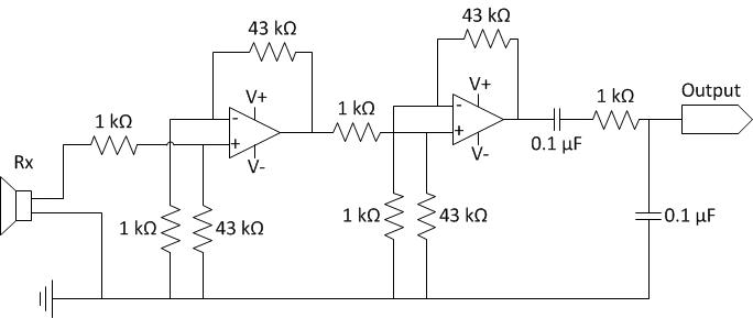 acoustic modem circuit diagrams - schematic