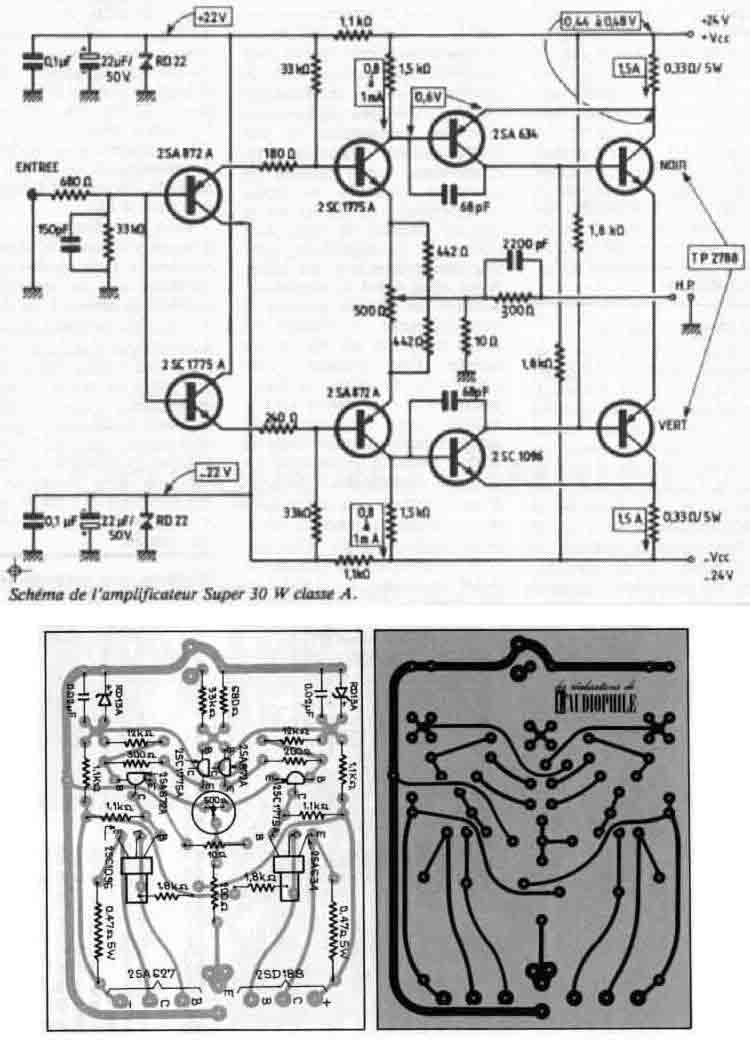 Super Class-A 30W Amplifier - schematic