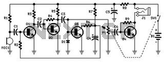 1,5V Earphones Audio Amplifier - schematic