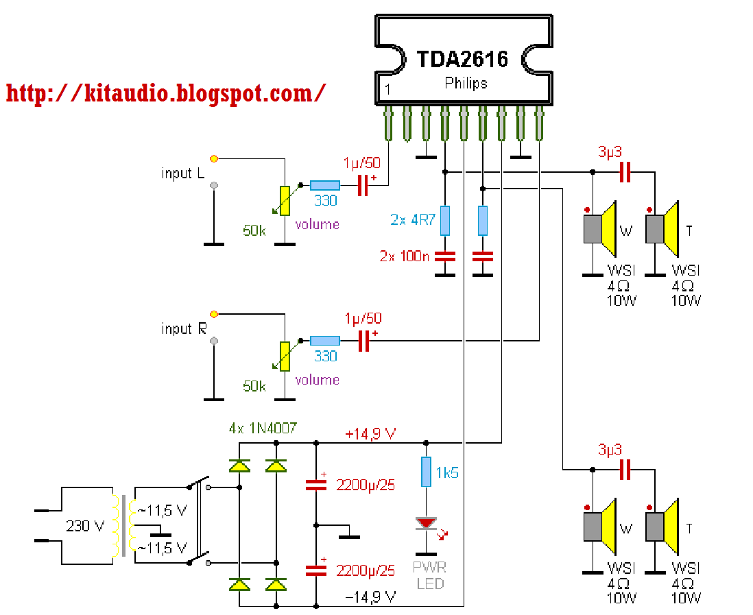Audio Amplifier Circuit Using La4446