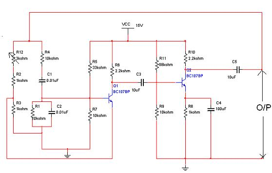 hartley oscillator - schematic
