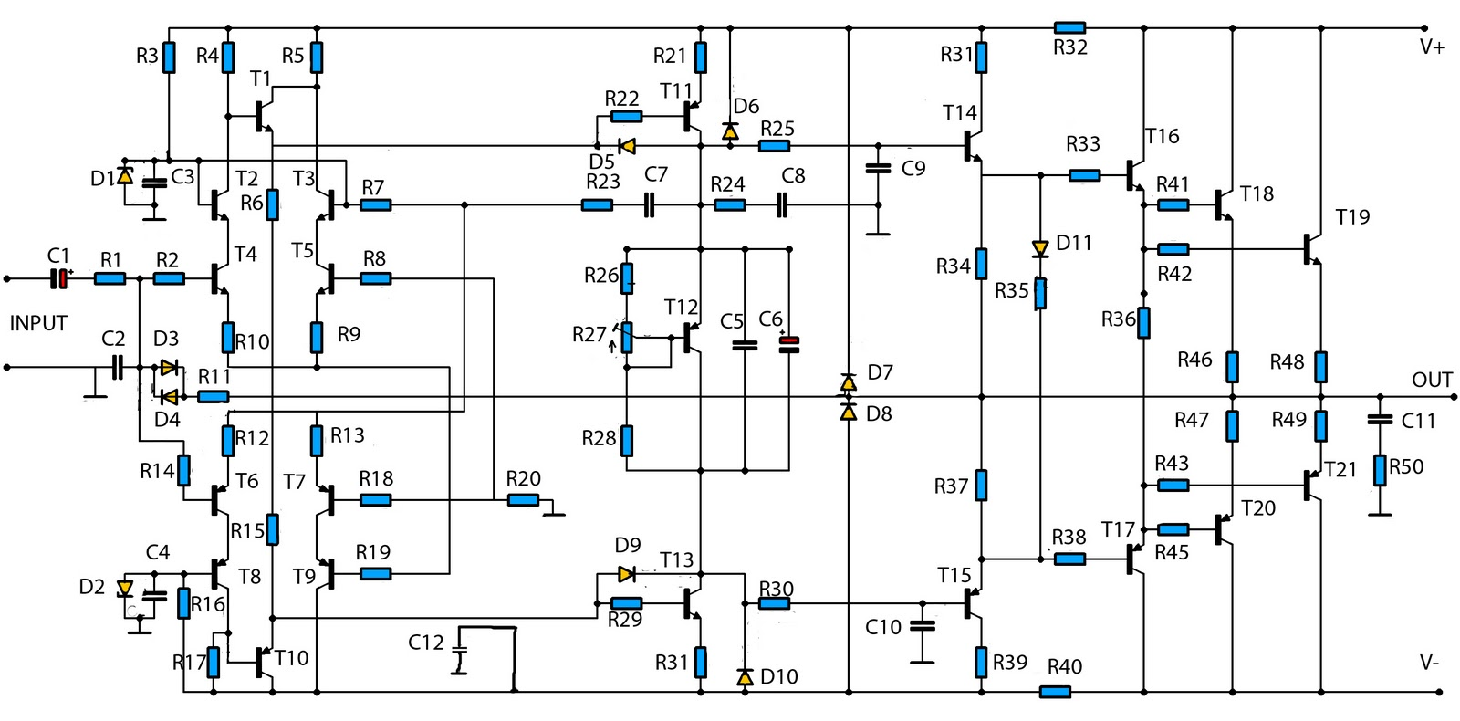 audio amplifier circuit page 12 audio circuits next gr2800w high power audio amplifier