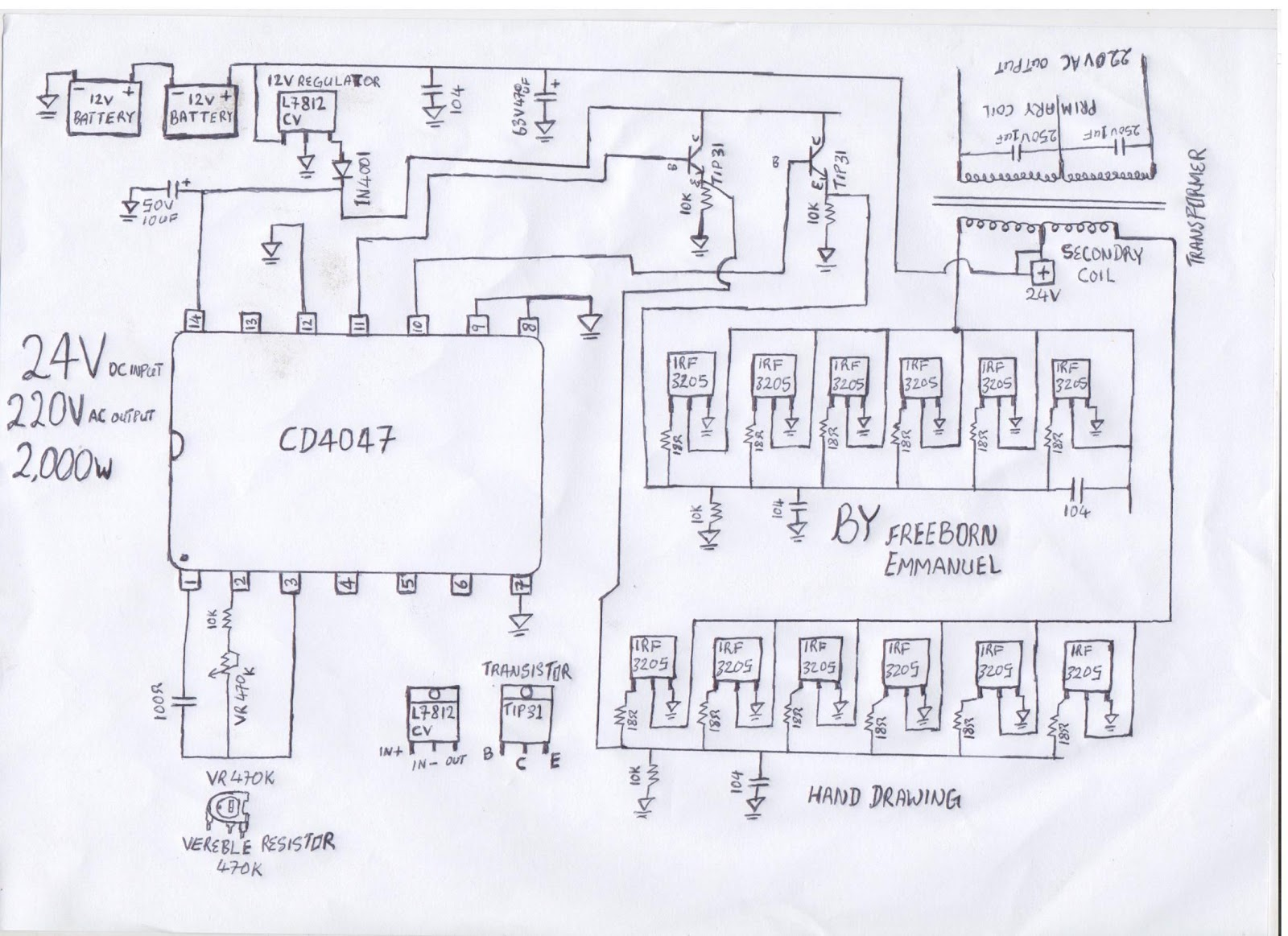 Inverter Circuit Page 4 Power Supply Circuits Sine Wave Design Modified Code For How To Build A 2kva Diagram