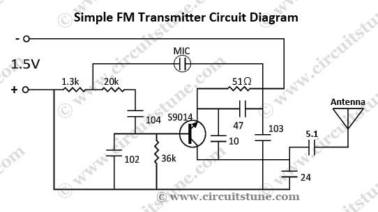 Simple FM Transmitter Circuit Schematic - schematic