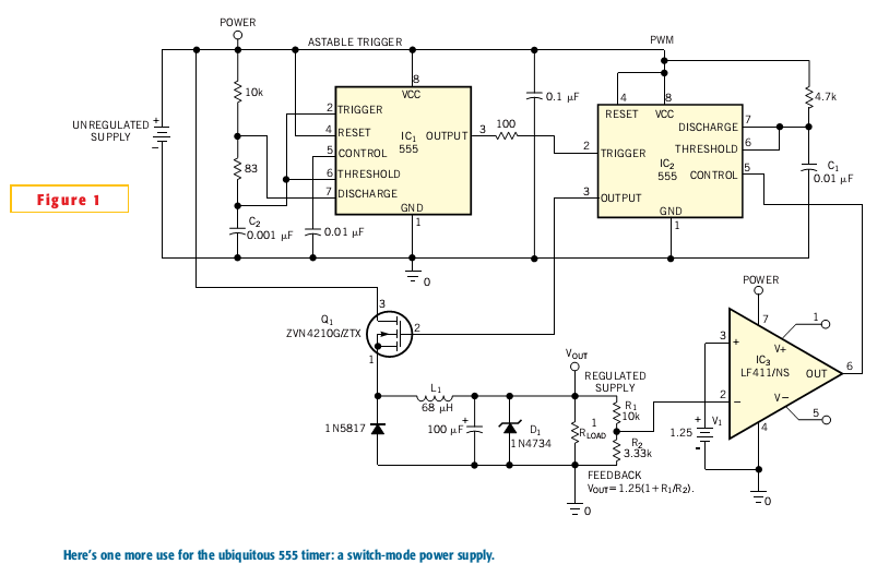 555 Timer As A Switch-Mode Power Supply