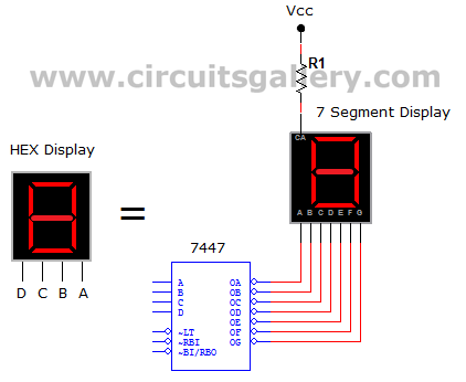 Numeric water level indicator- liquid level sensor circuit diagram with 7 segment display - schematic