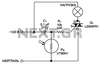 Automatic night light circuit