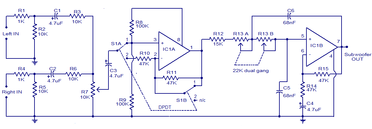 12v Wiring Diagram For Subwoofers - General Wiring Diagrams on