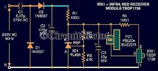 circuit diagram of remote control tester - schematic