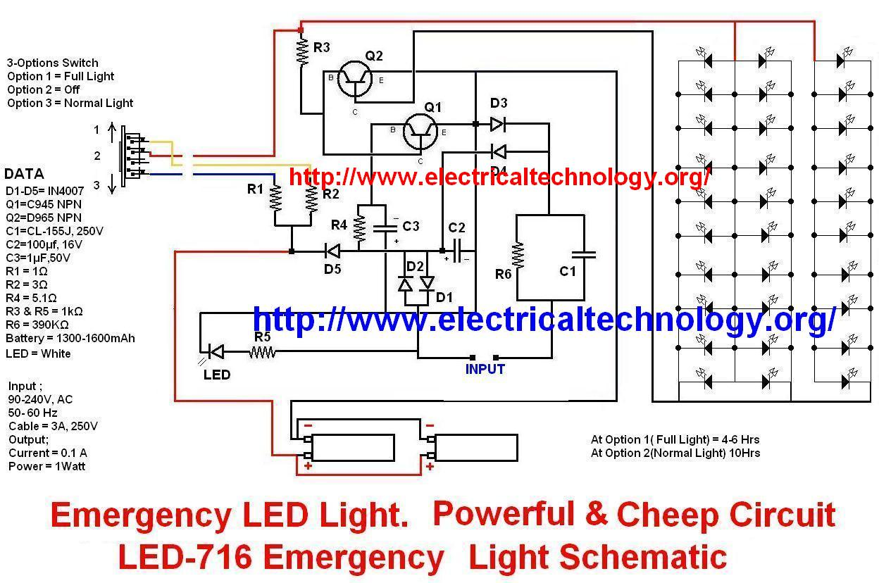 Circuits Emergency Led Light 716 Schematic Circuit With