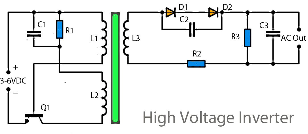 Inverter Circuit Page Power Supply Circuits Nextgr - Circuit diagram of an inverter