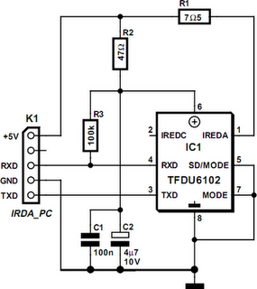 IrDA Interface - schematic