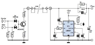 lnb cable data transceiver circuit schematic diagram