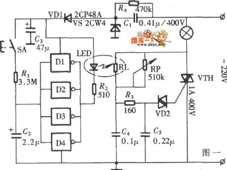 LED L  Dimmer Circuit Schematic Diagram L23805 on lighting contactor wiring diagram