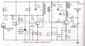 LONG RANGE FM TRANSMITTER ELECTRONIC DIAGRAM - schematic