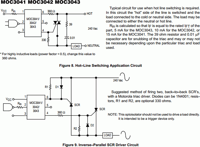 Zero-Crossing-Triac-Driver-Optocoupler-MOC3041 - schematic
