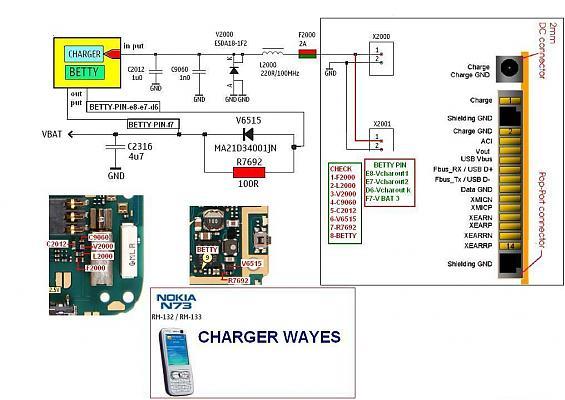 Nokia N73 Display Lights Problem Picture Help - schematic