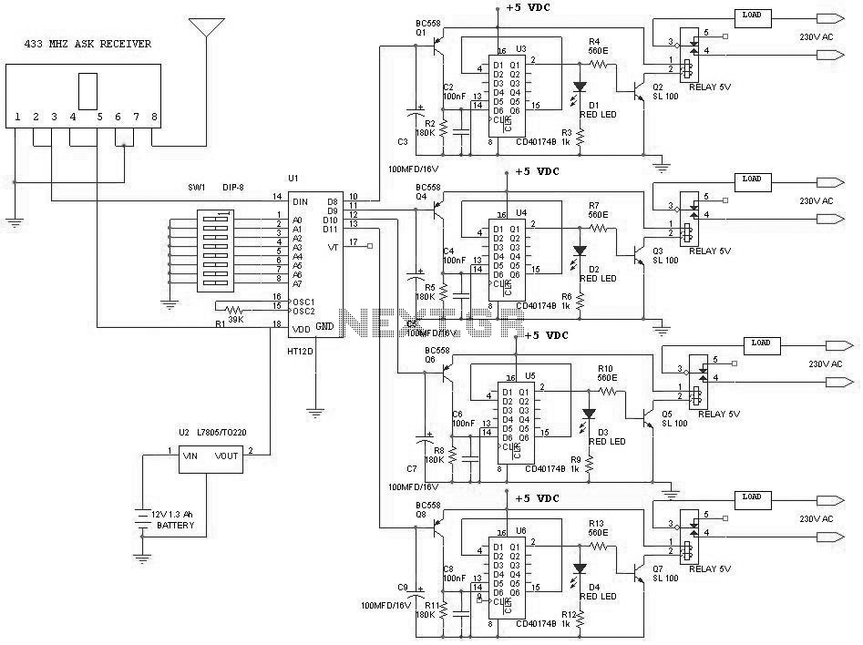 remote control receiver circuit   repository