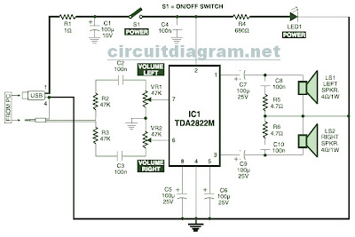 Stereo%2BPC%2BSpeaker%2BPowered%2BUSB%2BVoltage computer speaker diagram computer circuit board diagram \u2022 free computer speaker wiring diagram at gsmx.co