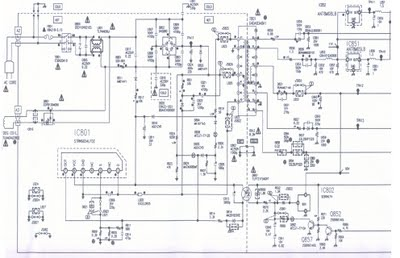 Switching Mode Power Supply using STR Schematic Diagram - schematic