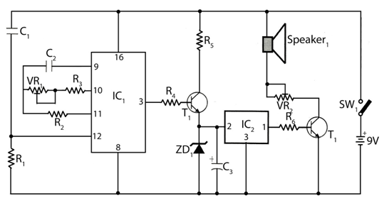 SimpleTimer with Musical Alarm - schematic