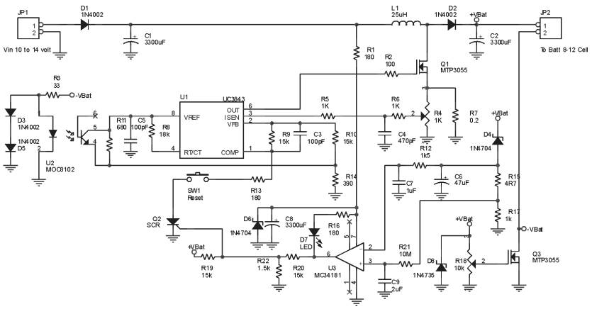 Ultra Fast Battery charger circuit Schematic Diagram - schematic