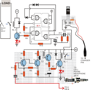 gsm based cell phone controlled remote - schematic