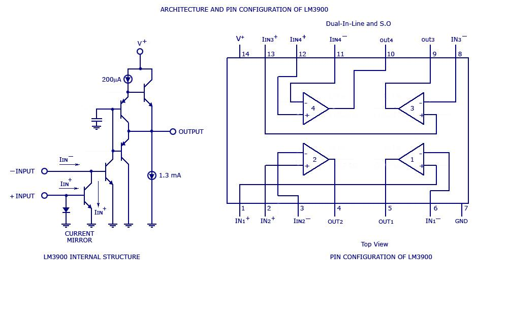 multi channel audio mixer using lm 3900 - schematic