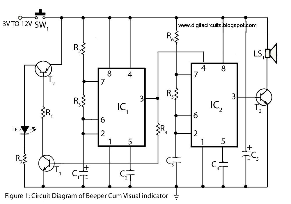 Build a Beeper visual indicator - schematic