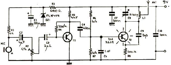 Electronic Mini Project Circuit Diagram Transistor Based Electronic