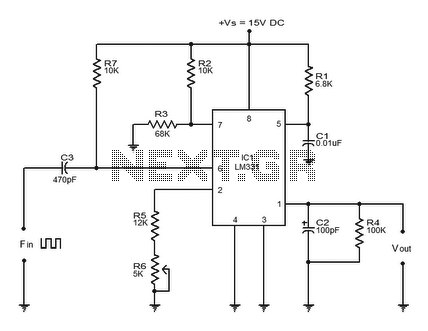 frequency to voltage convertor - schematic