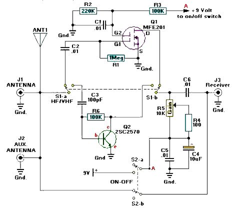 active antenna circuit  antenna circuits  rf circuits  next.gr, wiring diagram